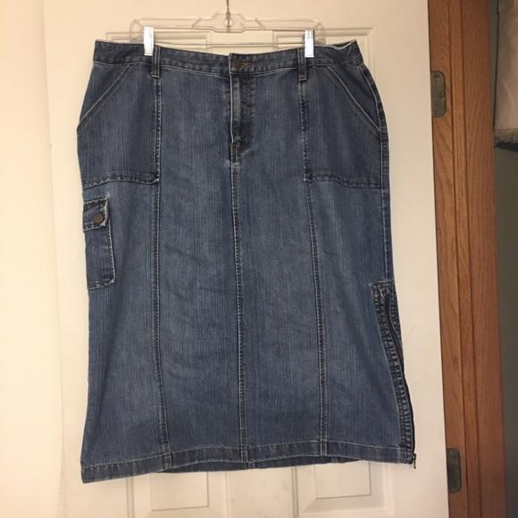 9255b12fbe Venezia Skirts   Lane Bryants Brand Denim Skirt Size 20   Poshmark